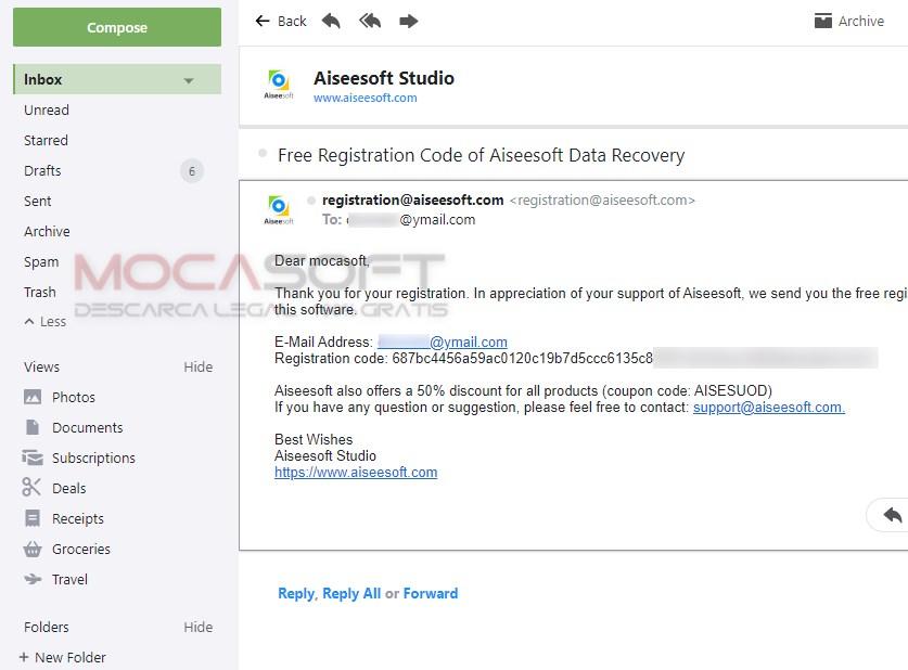 Cod de înregistrare gratuit pentru Aiseesoft Data Recovery