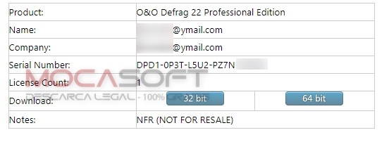 O&O Defrag 22 Professional Edition Serial Key