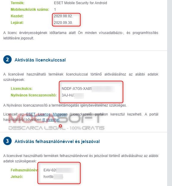 Eset mobile security pentru android license key