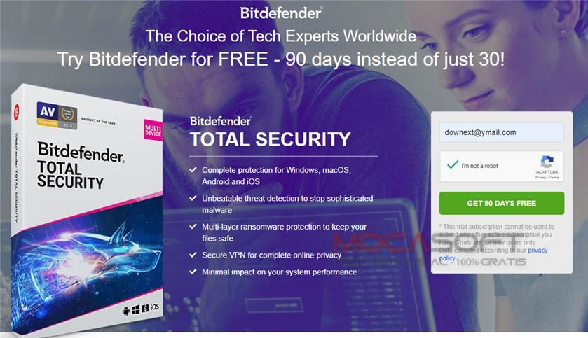 Licență gratuită Bitdefender Total Security timp de 3 luni