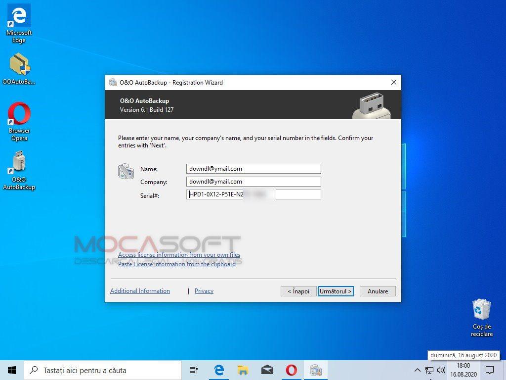 O&O AutoBackup Pro Licenta Gratis