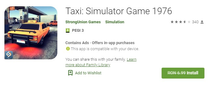 Taxi Simulator Game 1976