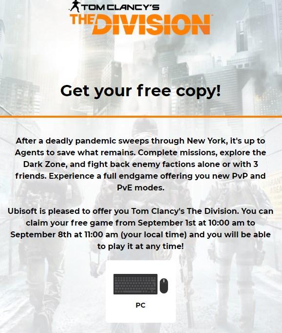 Tom Clancy's The Division Joc Gratis PC