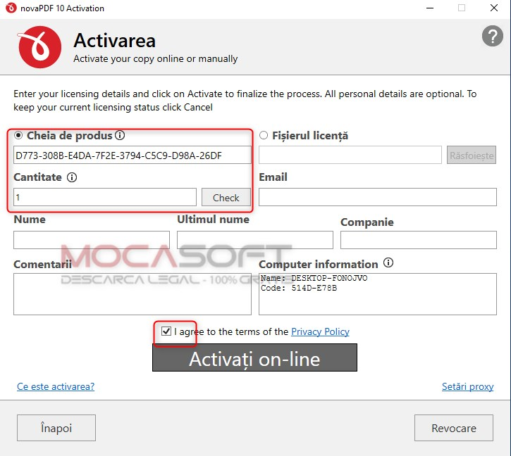 novaPDF full license key activation