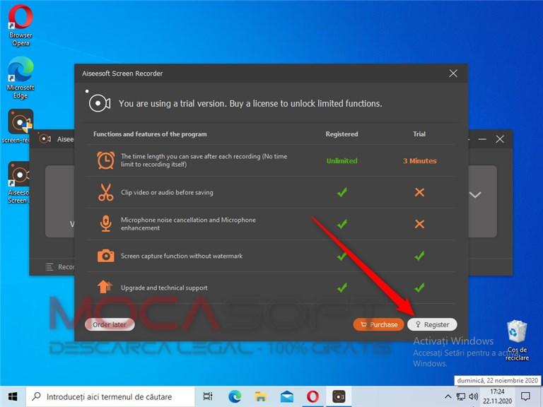 Aiseesoft Screen Recorder Register