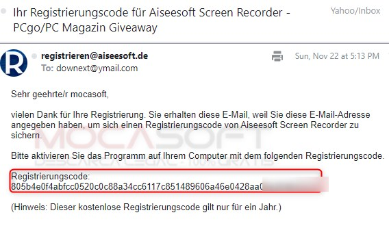 Aiseesoft Screen Recorder serial number
