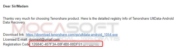 Android Data Recovery serial key