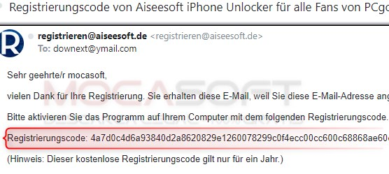 Cod de activare pentru Aiseesoft iPhone Unlocker