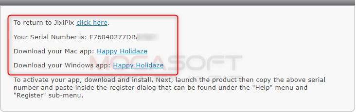 JixiPix Happy Holidaze full serial key