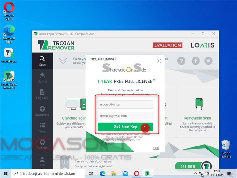 Loaris Trojan Remover - licență gratuită pentru 1 an