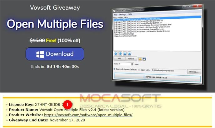 Vovsoft Open Multiple Files Gratuit