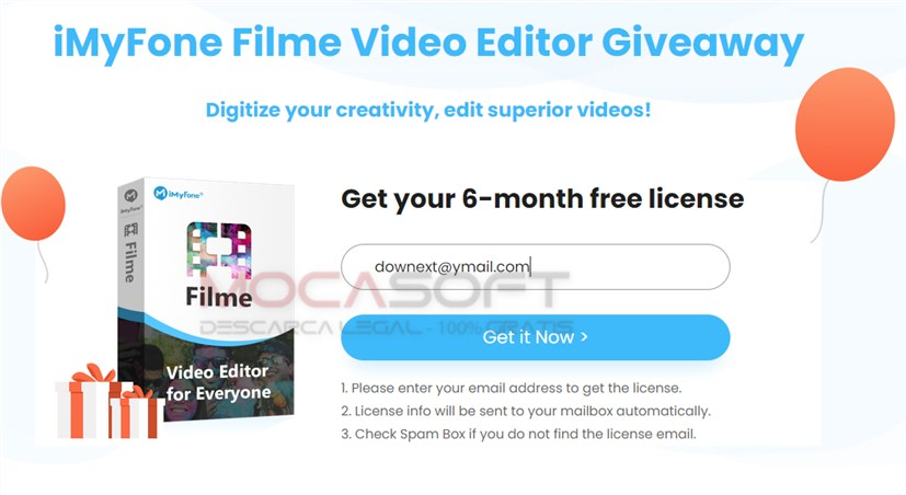 iMyFone Filme Video Editor Giveaway