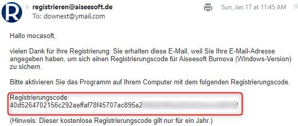 Aiseesoft Burnova Serial Key