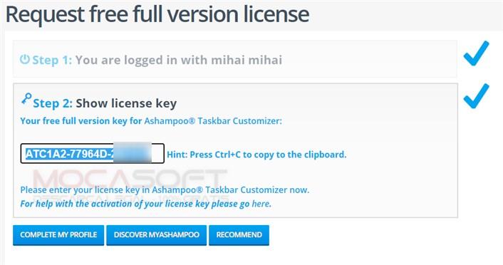 Ashampoo Taskbar Customizer Gratis