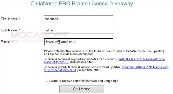 Cinta Notes Pro - Licență Gratis