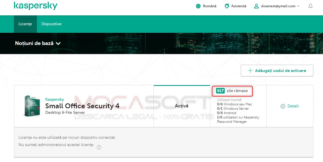 Kaspersky Small Office Security Licenta Full