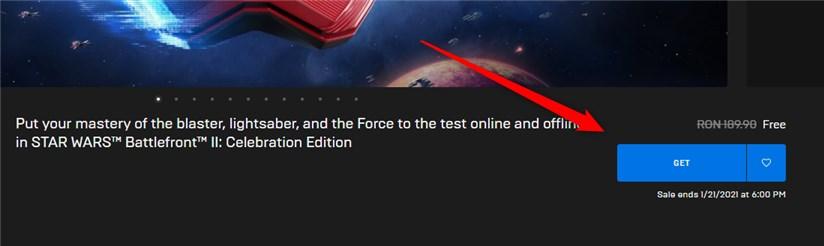 STAR WARS Battlefront II Celebration Edition gratuit pe EpicGames