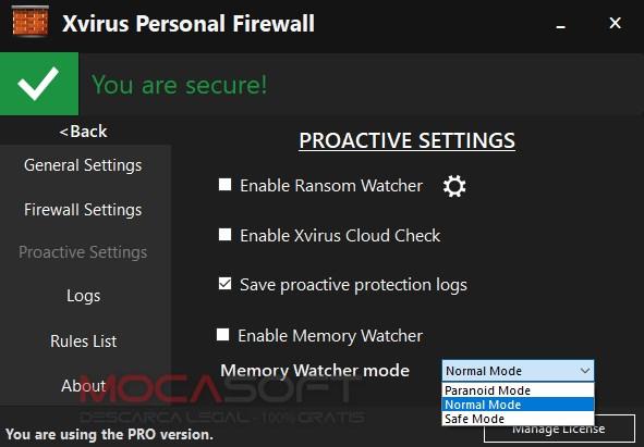 Xvirus Personal Firewall PRO