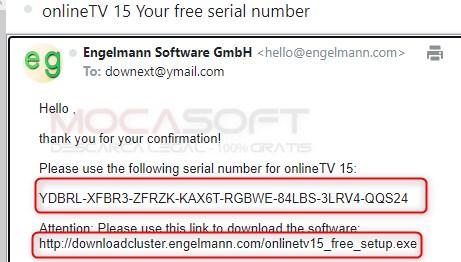 onlineTV15 Serial Key