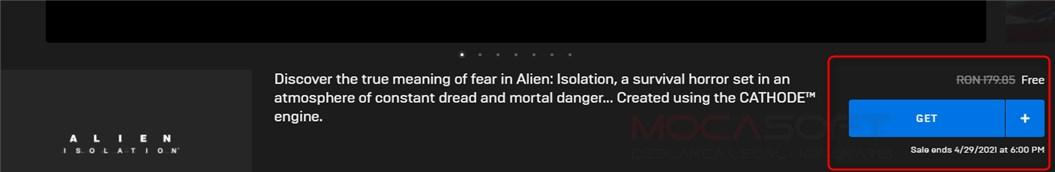 Alien Isolation gratuit pe Epicgames