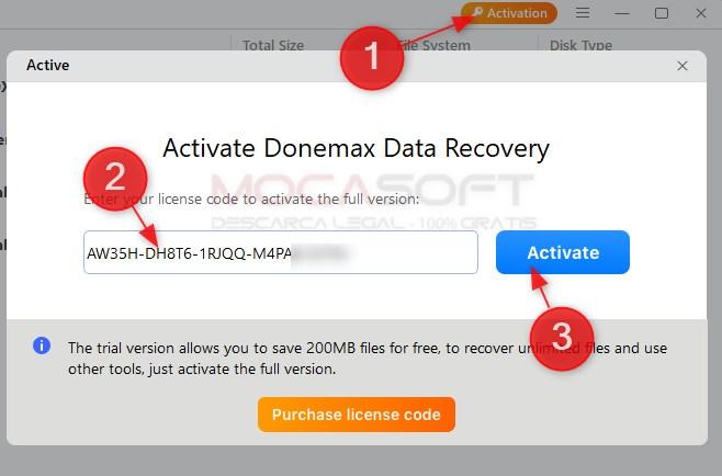 Donemax Data Recovery - Licență gratuită