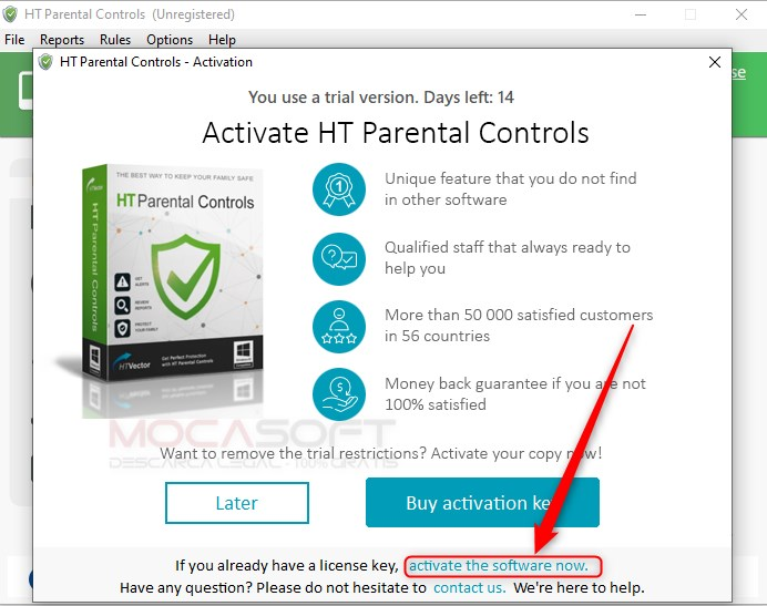 HT Parental Controls cu licenta Gratuită