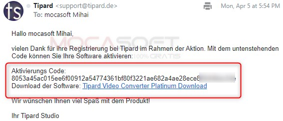 Tipard Video Converter Platinum Serial key