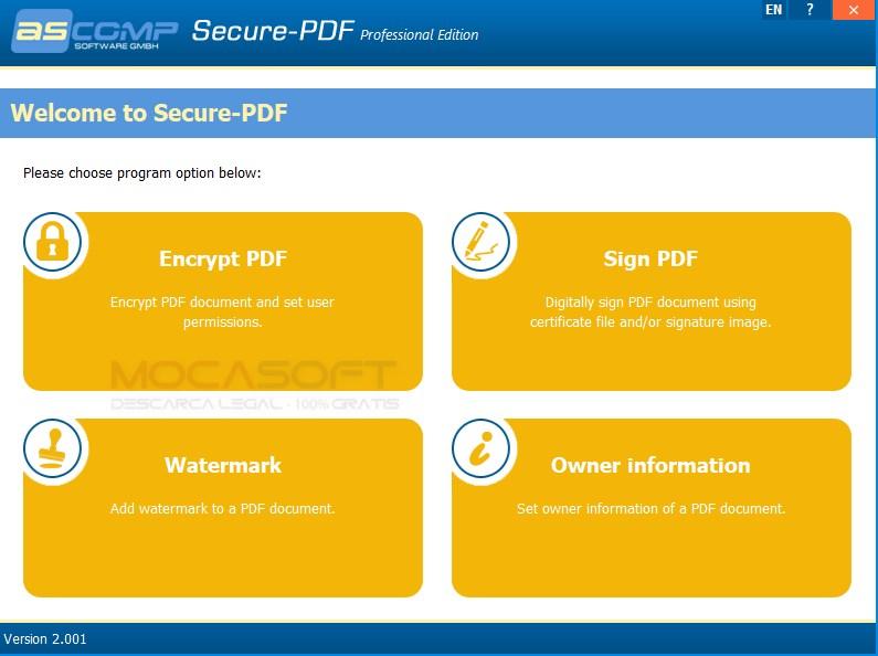 ASCOMP Secure-PDF Professional