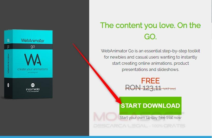 WebAnimator Go cu licenta gratuită