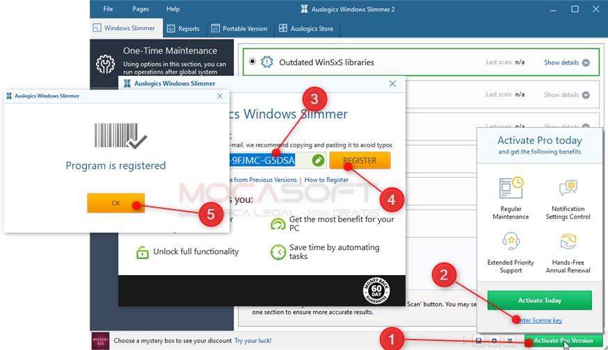 Auslogics Windows Slimmer Pro - Licență gratuită